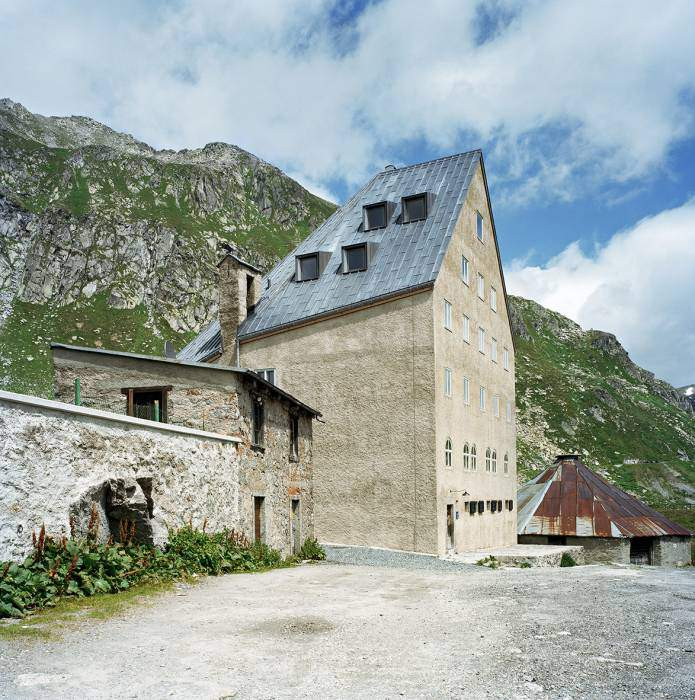 St Gotthard Hospiz bilder umbau des hospizes auf dem gotthardpass durch miller